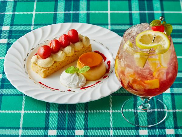 夜カフェ5、6月限定メニュー「Cherry Savarin(チェリーサヴァラン)」(イメージ)