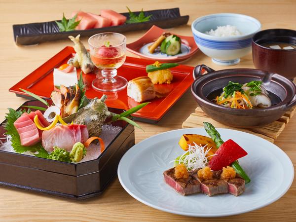 ◇日本料理「行庵」季節の夕食コースの一例(イメージ)