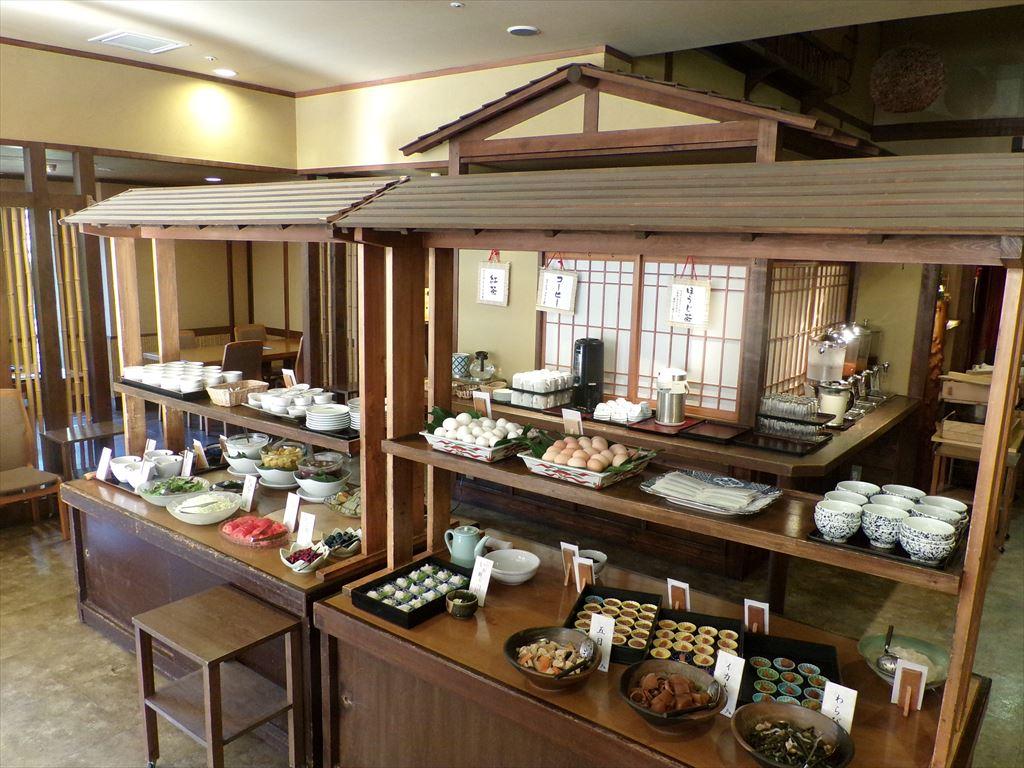 道産食材を使用した和食ビュッフェの朝食。