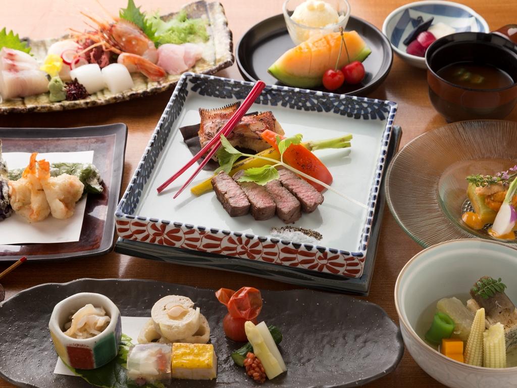 和食会席イメージ。旬の味覚をふんだんに使用いたします。