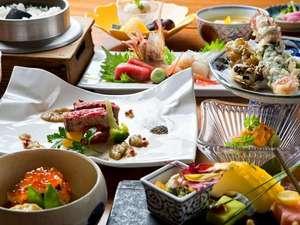 和食会席一例。旬の味覚をお愉しみくださいませ(写真はイメージです)。