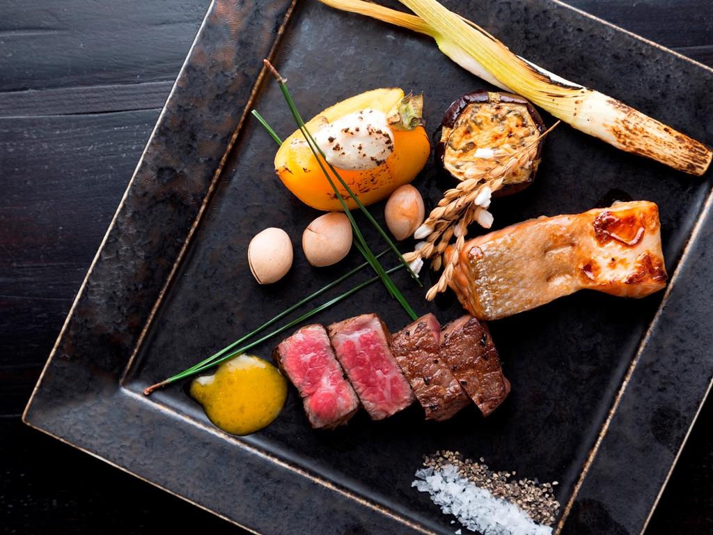 【翠山御膳/お料理一例】旬の味覚をふんだんに使用した、渾身のお料理をお愉しみいただきます。