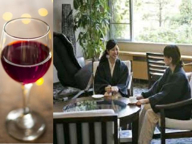 【緑を望むラウンジ×ワイン】お客様のご希望のシーンでワインをご用意いたします。