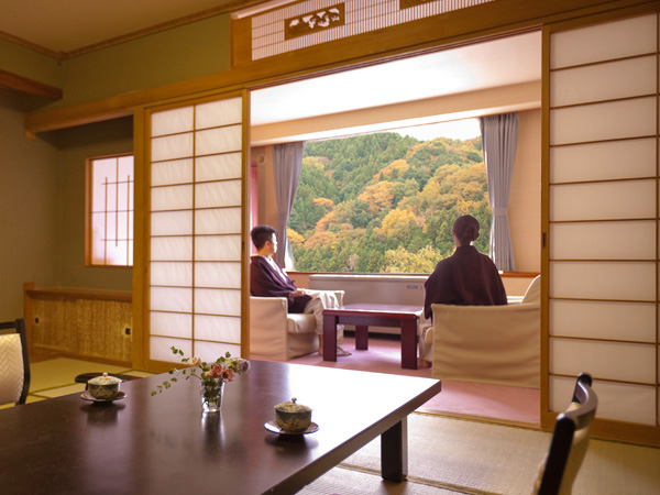 【やすらぎ館】和室〜お部屋からの景色(※イメージ)