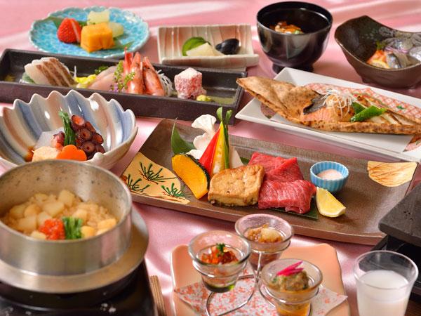 春の特別膳【3-4月】麗らかな春の旬を堪能『祝いの桜膳』