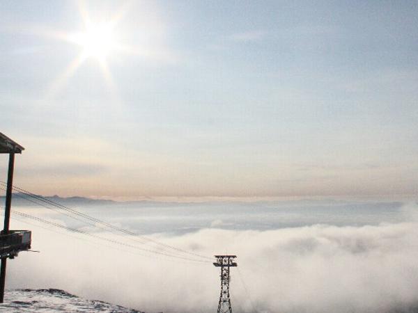 ロープウェイから見下ろす雲海