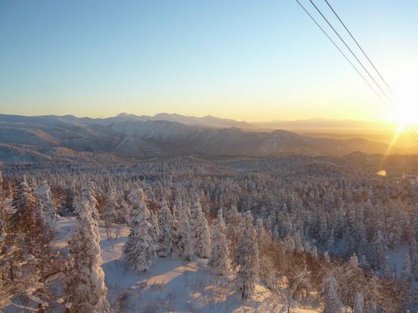 Winter scenery of Asahidake