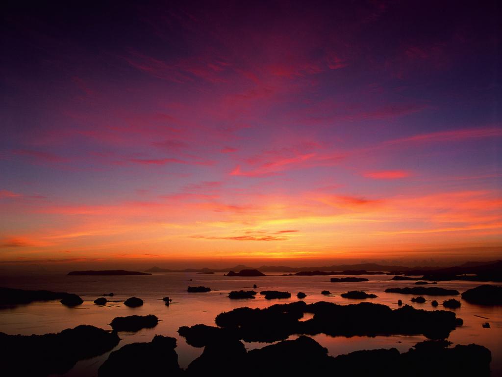 <周辺観光情報>九十九島の夕景