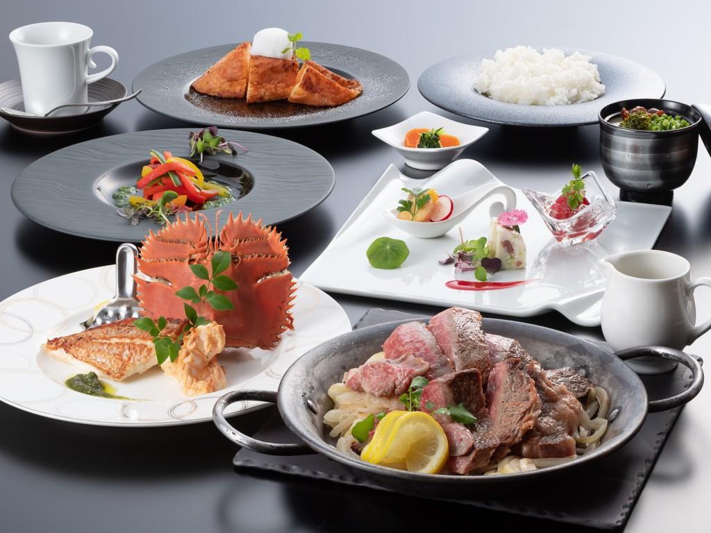 長崎牛レモンステーキ、団扇海老など