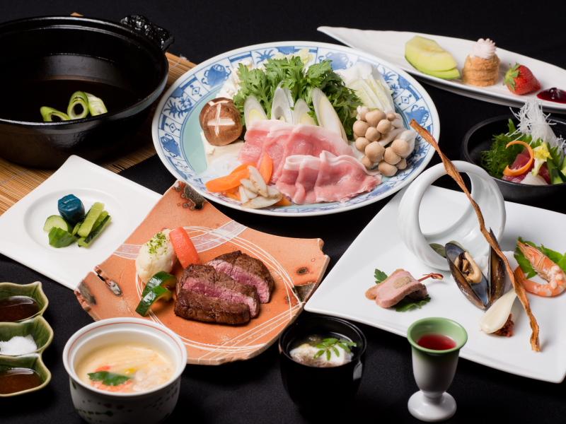 選べるメインは肉と魚!!二日間で違いをご堪能下さい♪