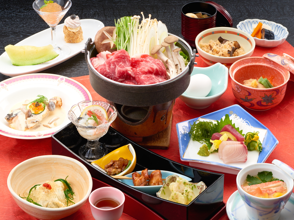 旅館といえば宴会♪旬の和会席料理で楽しいひとときを♪(写真は一例 季節・仕入れにより変わります)