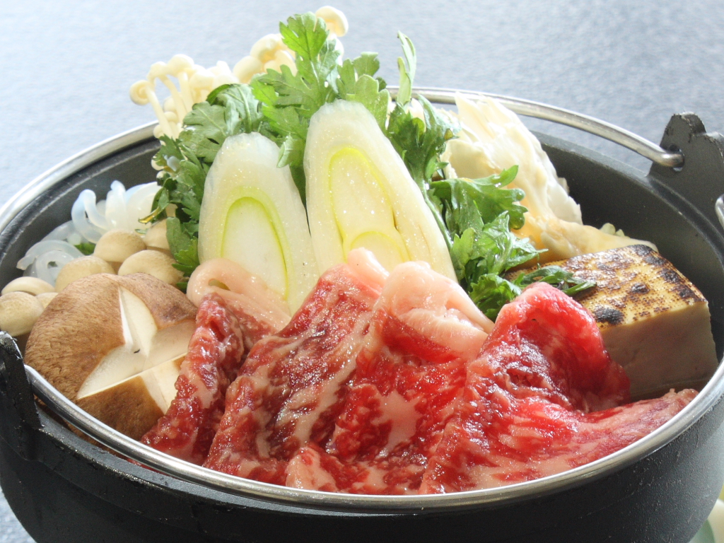 上州牛&群馬県産食材100%で作った、当プラン限定のすき焼き特別バージョン!