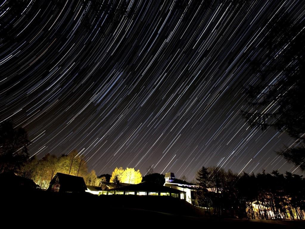 周囲に灯りが少ないので、晴れた夜の月や星はキレイです☆
