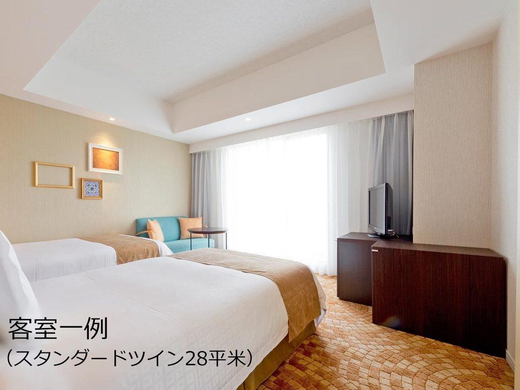 お部屋は当日空きがあるタイプにご案内(広さは全室28平米以上です)