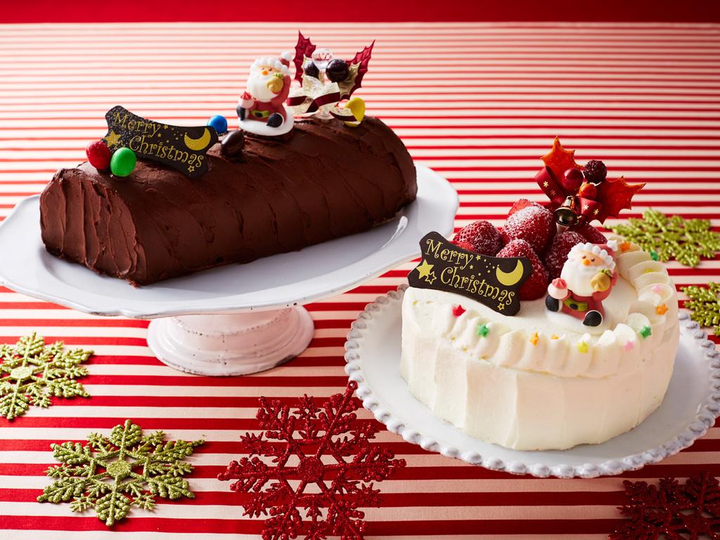 お部屋でクリスマスパーティ!ケーキは2種類からお選びください。(写真はイメージです)