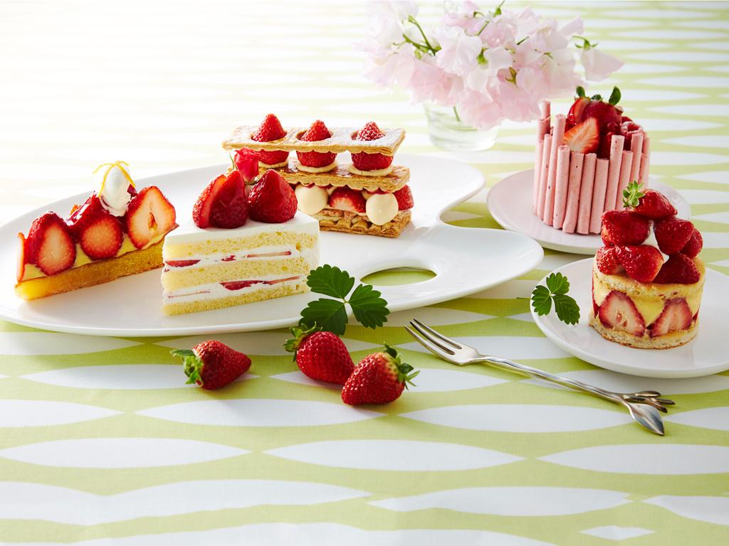 苺ケーキ5種の中から、お好きなものをおひとつお選びください。