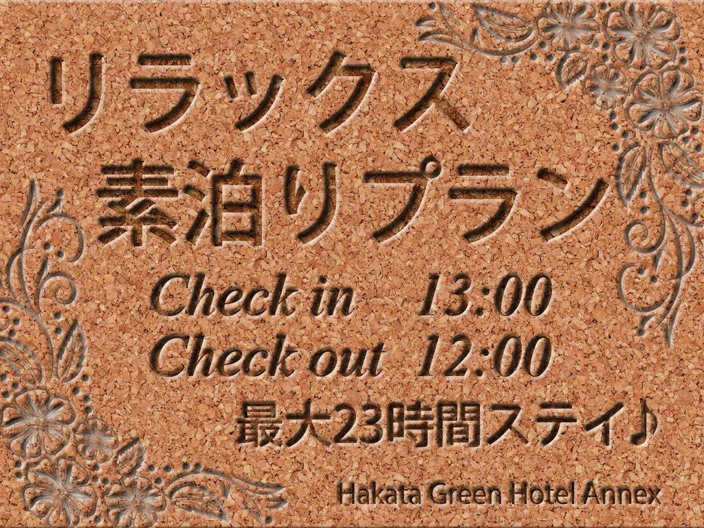 13時イン12時アウト☆リラックス素泊りプラン