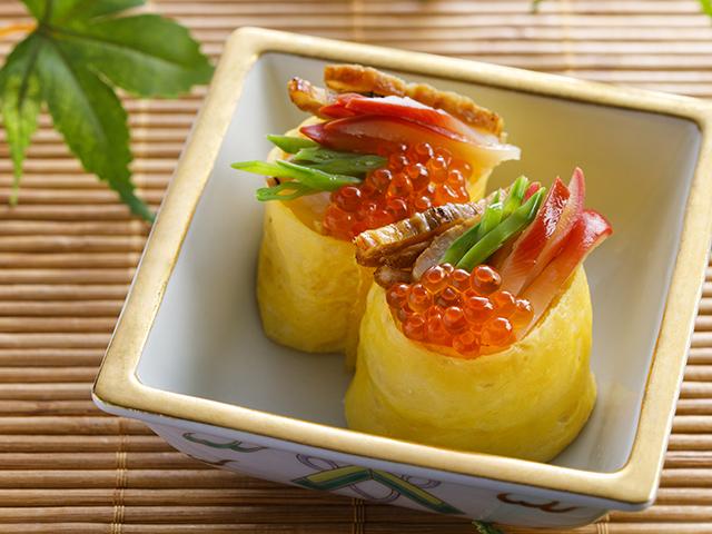 美味しいものをきらきらと散りばめたお寿司です