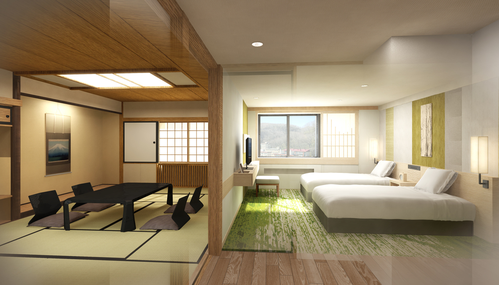 【SUITE】 South Wing (Western+Japanese rooms)