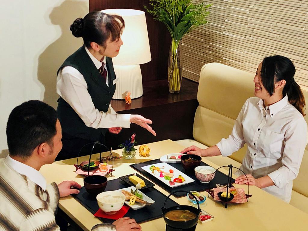和定食膳の会場。