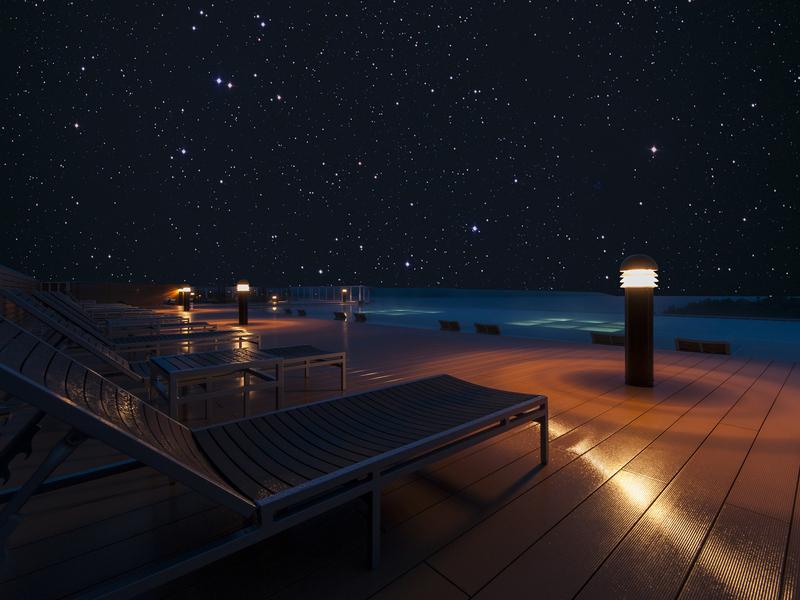 天空ガーデンスパ〜大自然と綺麗な夜空