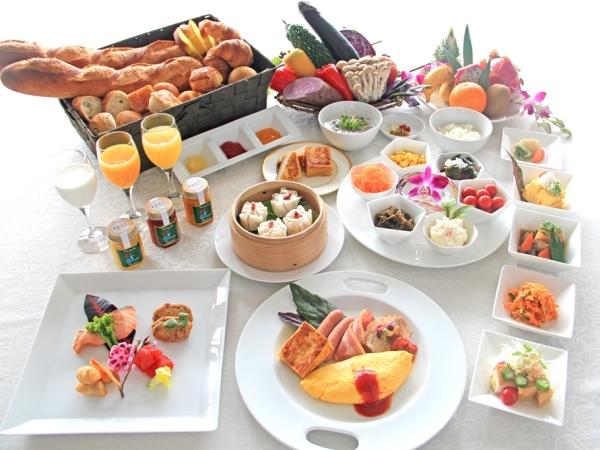 朝食バイキングイメージ。1日の始まりは美味しい朝食から。