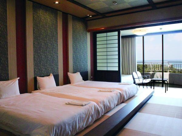 常設ベッド3台をぴったりくっつけてご用意致します。