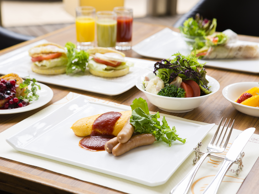 農家直送のこだわり新鮮野菜や卵料理が自慢のGarden Cafe朝食ブッフェ