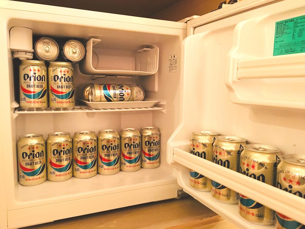 冷蔵庫いっぱいにオリオンビールをご用意♪