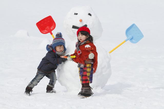雪が盛りだくさん!雪遊びがたくさんできます。