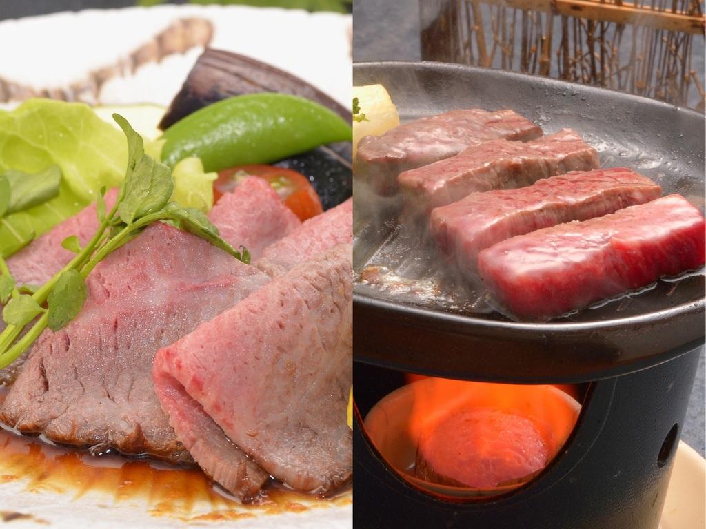 飛騨牛2品(もも肉ロースト&とも三角ステーキ)