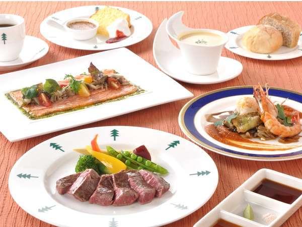 特選黒毛和牛+シーフード美食家コース(イメージ)