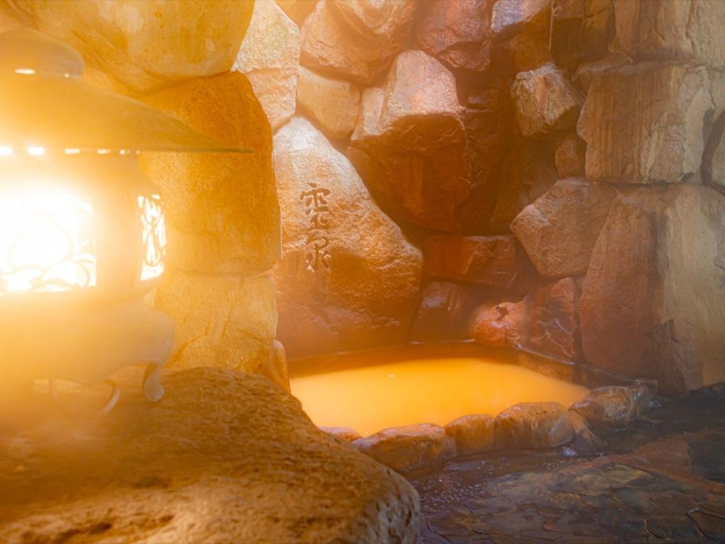 岩風呂の金泉