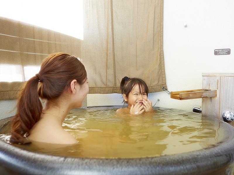 露天風呂付の客室で水入らず♪