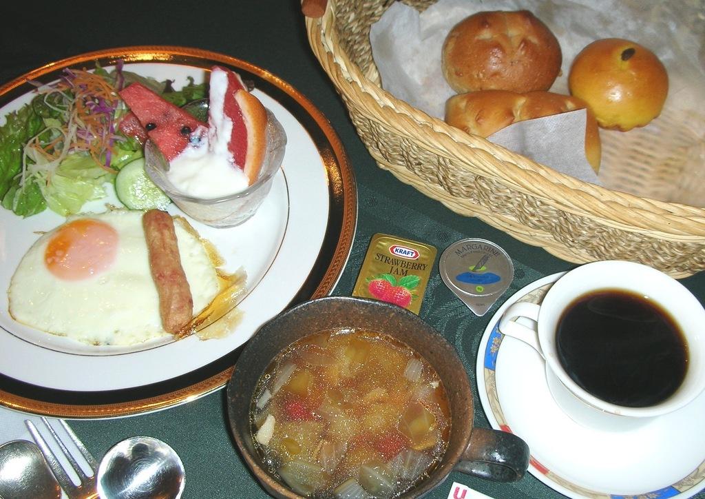 お目覚めにM朝食をお召上がりください