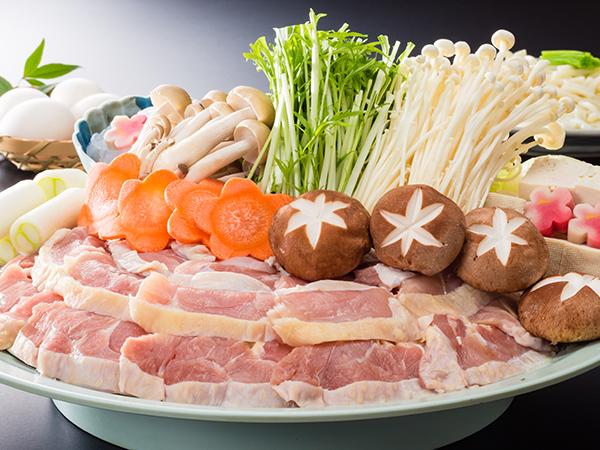 すき焼き風鶏鍋プラン
