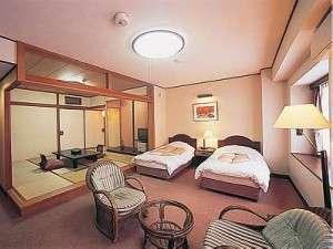 広々とした新館和洋室(バス・トイレ付)一例