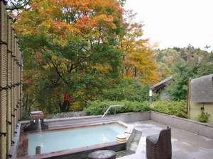 秋の婦人露天風呂