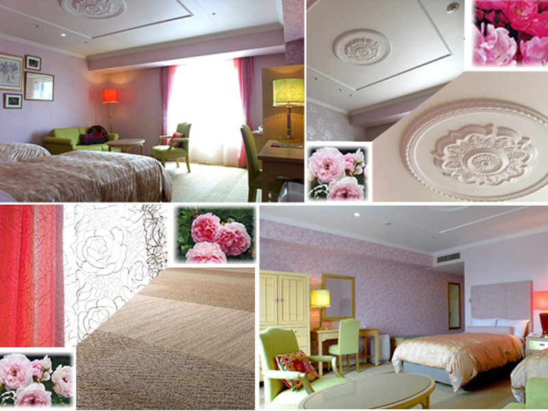【客室リニューアル】上野砂由紀さんがプロデュースした華やぎの「ローズルーム」