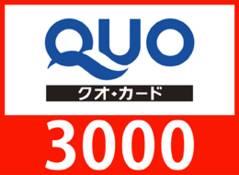 Quo3000円プラン