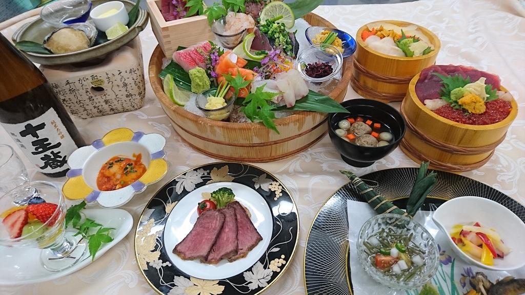 海鮮プラン夕食一例
