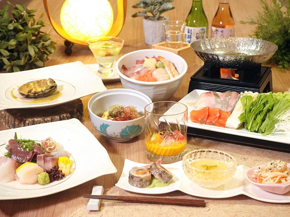 2食付き海鮮プラン(夕食内容一例)