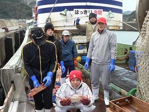蟹漁師の皆様