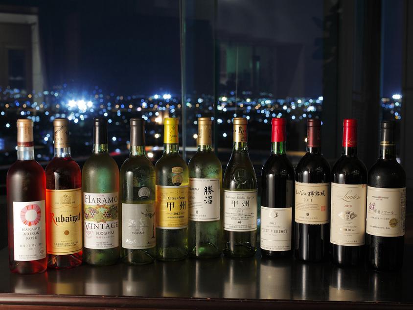 10数種のワインを飲みくらべ