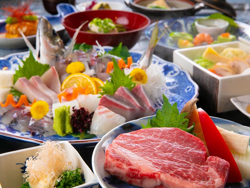 【極上ヒレ肉ステーキ】※表示画像はイメージです。季節などによりお料理内容が変わります。