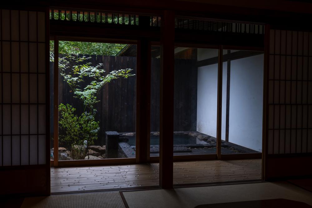 「内庫所和室 桔梗」客室露天風呂