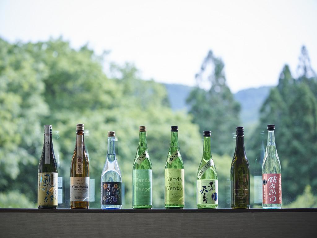 館主が全国から厳選した冬の「しぼりたて」の日本酒が楽しめます!※画像はイメージです。