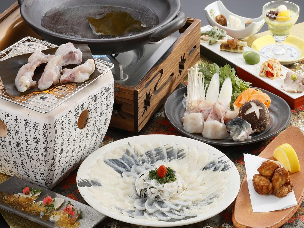 4月〜5月期間限定「河豚会席膳」(一例)