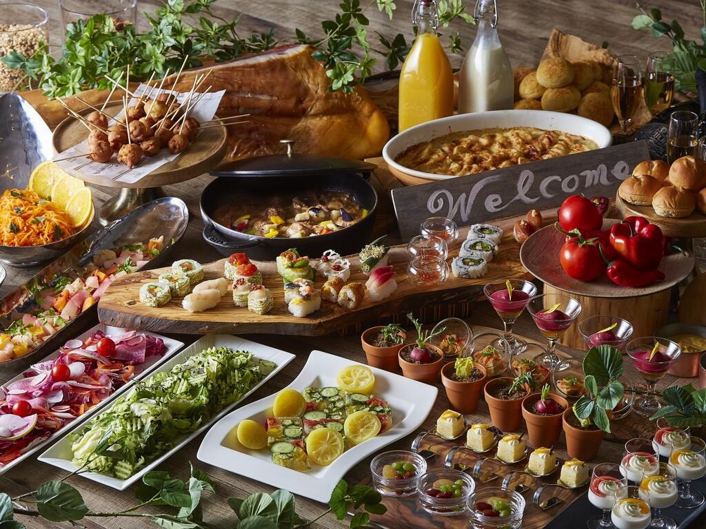 道産食材にこだわった華やかなアレンジブッフェは朝6:30〜14:00までのゆったり営業!