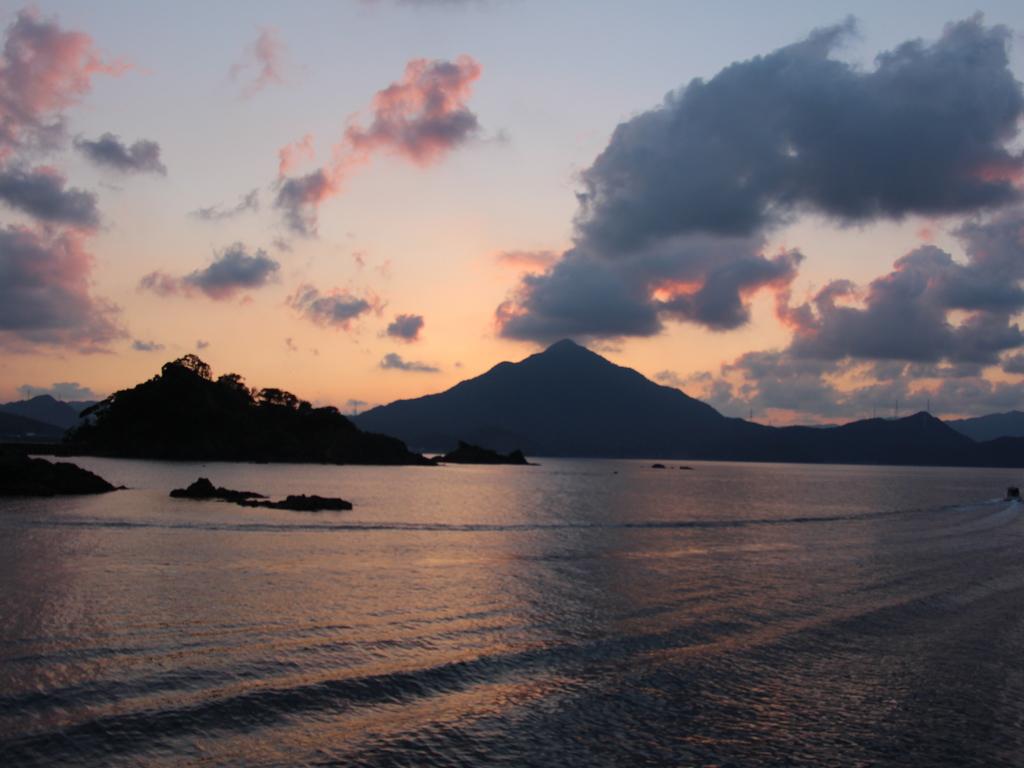 青葉山の夕日
